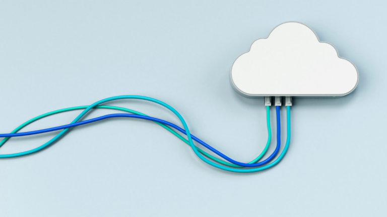 Cloud connected to electrical cords