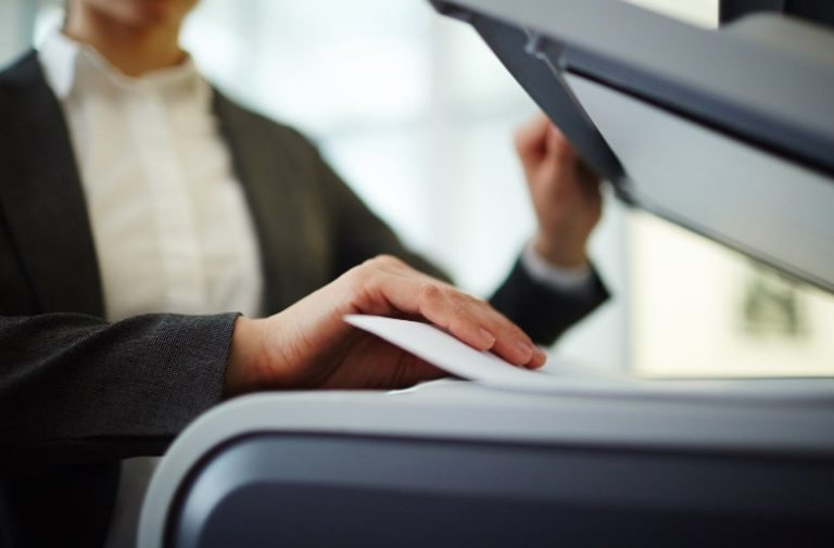 Person photocopying
